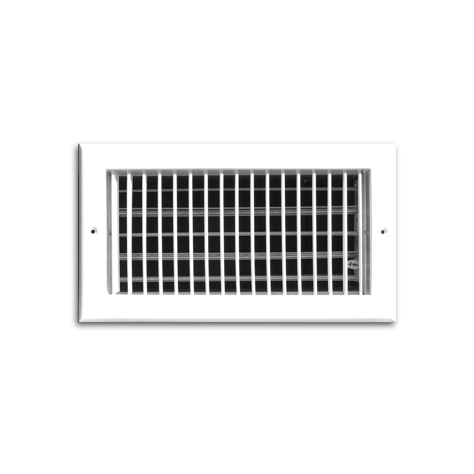 "TRUaire 210VO 10X06 - Steel Adjustable 1-Way Wall/Ceiling Register With Opposed Blade Damper, White, 10"" X 06"""